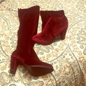 Catherine Malandrino Heel Thigh High  Boots